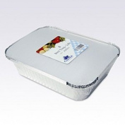 Essential Housewares Pack Of 4 Rectangular 260cm X 190cm X 56.5cm Foil Tray With Lid 2000cc / 260cm x 190cm x 56.5c