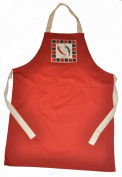 COOKING NOVELTY APRONS PRINTED CHILLI PICTURE WITH BORDER RED BBQ APRON OVERALL