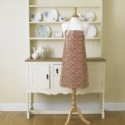 Laura's Beau William Morris Mallow Wine PVC / Oilcloth Floral Apron
