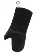 Premier Housewares Silicone and Fabric Oven Glove, Black