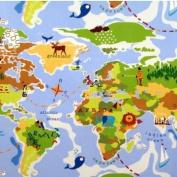 THE TABLECLOTH SHOP World Oilcloth Tablecloth 2.5m Metres