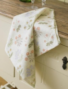 Laura's Beau William Morris Lily 100% Cotton Floral Tea Towel Made In The UK