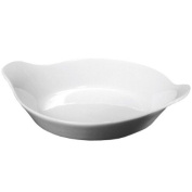 Royal Genware Round Eared Dish 13cm | White Dish, Porcelain Dish | Commercial Quality Tableware by Royal Genware