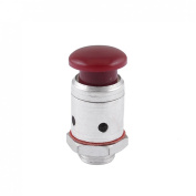 9mm Threaded Kitchen Pressure Cooker Safety Valve Repair Parts Red Silver Tone