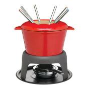 Master Class Fondue Gift Set, Cast Iron Enamelled - Red