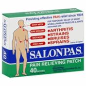 Salonpas Pain Relieving Patch, 6.5cm . x 4.2cm ., 40 ea