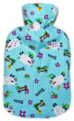 Warm Tradition Counting Sheep Cotton Flannel Hot Water Bottle - Made In Germany
