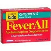 FEVERALL CHILD SUPPOS 120 MG Size