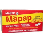 Mapap Extra Strength 500mg Caplets - 100 CT