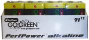 PerfPower Go Green Super Alkaline, 9V Batteries, 12 Count