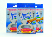 Just A Drop - The Natural Toilet Odour Neutralizer - 15 ml - 3 Pack