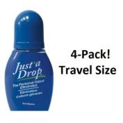 Just a Drop (R) - America's Favourite Bathroom Odour Eliminator - Travel Size 6 ml / 200+ Uses / Eucalyptus Scent - 4-Pack!