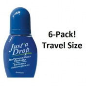 Just a Drop (R) - America's Favourite Bathroom Odour Eliminator - Travel Size 6 ml / 200+ Uses / Eucalyptus Scent - 6-Pack!