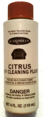 Citrus GUARDSMAN Fabric, Carpet & Upolstery DRY CLEANING Fluid OIL & GREASE STAIN REMOVER 120ml (Pack of 2)