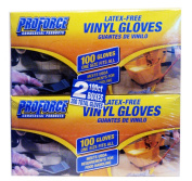 PROFORCE Latex-Free Vinly Gloves 2 100ct. Boxes