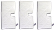 Fits Shark 3x3300 Microfiber Cleaning Pads for the Steam Pocket Mop, 3 Standard Rectangle Replacement Pads