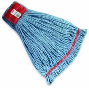 Rubbermaid Web Foot Shrinkless Wet Mop, 13cm Headband, Blue