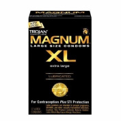 TROJAN Home Products - - TROJAN MAGNUM XL EXTRA LARGE LUBRICATED 12 PREMIUM LATEX CONDOM