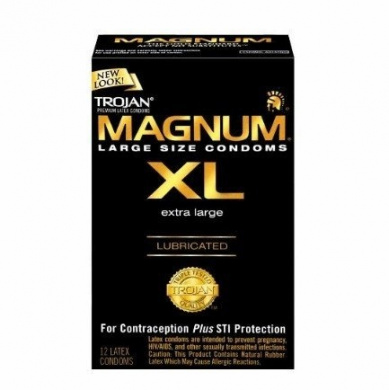 TROJAN Home Products - - TROJAN MAGNUM XL EXTRA LARGE LUBRICATED 12 PREMIUM LATEX CONDOM