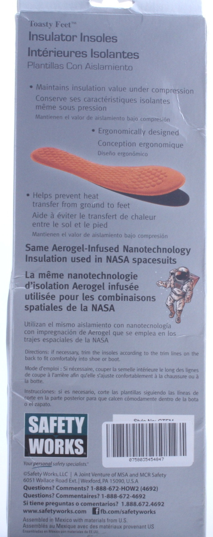 Toasty Feet Insoles Provide Space Age Support
