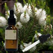 Tea Tree Oil 100% Pure - 60ml W/glass Dropper By Greenals
