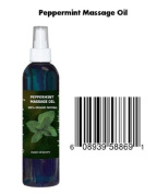 8 Oz Cocojojo Pure Organic 100% Natural Massage Oil with Peppermint Essential Oil - Mint Oil
