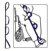 Kinsman Triple Loop Quad Leg Lifter - Navy - 35-110cm