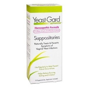 YeastGard Homoeopathic Suppositories Treatment with Probiotics 10 ea