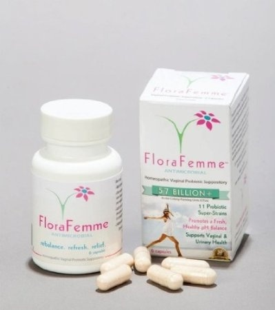 FloraFemme - Vaginal Probiotic Suppository - Clinical Strength- 57+ Billion  CFUs - Balances yeast & bacteria for feminine freshness  on U S  Orders