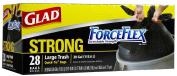 Glad ForceFlex Trash Quick-Tie-Black-28 ct, 30 Gal