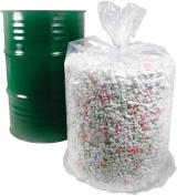 Trash Bag 25 CLEAR Large X-HEAVY Duty 38x58 Drum Liner 208.2l2.5 mil Body Bag