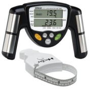 Omron HBF-306C BodyLogic Pro Hand Held Body Fat Monitor Black with MT05 MyoTape Body Tape