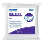 Kimberly-Clark Kimtech 06179 Pure Disposable Wiper with W5 Dry, 23cm Length x 23cm Width, White