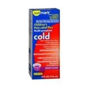 Sunmark Sunmark Childrens Pain Relief Plus Multi-Symptom Cold Oral Suspension Grape