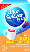 Alka-seltzer plus day severe cold cough & flu berry fusion fast relief mix-in 6 packets