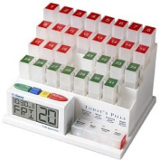 Medcenter 70265 Monthly Pill Organiser Reminder 4Daily Alarms