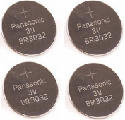 Panasonic ** BR3032 ** 3V Coin Cell Batteries ** 4 PIECES