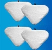 4 Replacement Pads Compatible with H2O H20 Steam Mop