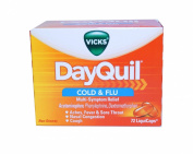 Vicks DayQuil Cold & Flu Relief LiquiCaps, 72-count Box