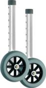 Nova Ortho-med 410si Wheels for 4070/4090, Silver/black, 13cm