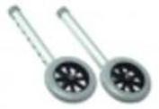 Lumex 13cm Fixed Walker Wheels, 2EA/PR