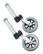 Lumex 13cm Swivel Walker Wheels, 2EA/PR