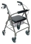 DMI 50110124100 DMI Ultra Lightweight Rollator, Titanium, Aluminium/Plastic, 38H