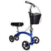 Knee Walker - Deluxe Steerable Knee Cycle Scooter in Blue