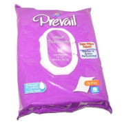 Prevail Quilted Cotton Adult Disposable Large (30cm x 20cm ) Washcloths with Lotion 48 CT