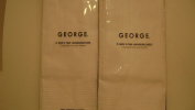 New George 2 Pkg Mens White Blanco Cotton Handkerchiefs Hankies Hankerchief 2 Packages of 6
