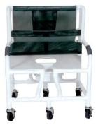 Lumex 89251 26 PVC Bariatric Shower Commode Chair with Sliding Footrest