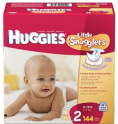 Huggies Little Snugglers Nappies, Size 2, 144 ct