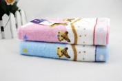 Pink/blue Lovely Bear Pattern Baby Kid Bathroom Bath Hand Face Towels Washcloth 100% High Quality Cotton Soft Touch First Class Product