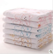 Pink/yellow Lovely Cartoon Rabbit Pattern Baby Kid Bathroom Bath Hand Face Towels Washcloth 100% High Quality Cotton Super Soft Touch First Class Product
